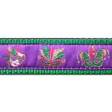 mirage pet products mardi mask mardi gras 3 4 1 25 inch dog collar harness