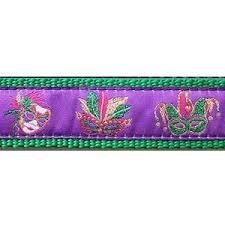 mardi gras dog collars from mask mardi gras 3 4 1 25 inch dog collar harness