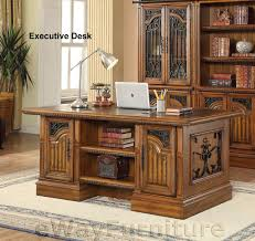 home office furniture wall units parker house barcelona double pedestal executive home office desk