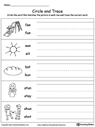 identify word and write un words phonics words word families