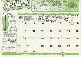 ronald mcdonald coloring calendar 1983 mcdonalds ebay