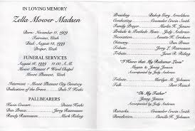 funeral program wording funeral acknowledgement poems