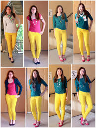 colors that go with yellow scrap and run yellow skinny jeans