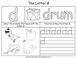 Pre K Letter Worksheets Ideas Collection Letter D Worksheets For Pre K About Free