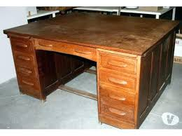 bureau bois bureau bois massif ancien bureau de direction ancien checircne