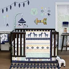 indio 4 baby crib bedding set by the peanut