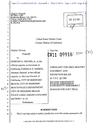 Case Cover Sheet by Status Of California Open Carry Lawsuit U2013 Nichols V Brown 14