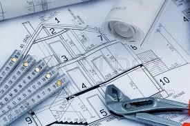blueprint of a house construction stock photo colourbox
