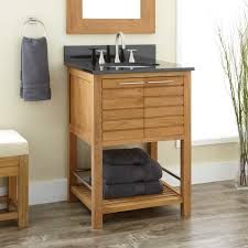 Teak Wood Bathroom Small Stand Vanity Made Of Teak Wood Natural Polished Finished