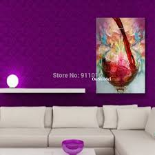 compare prices on glass art wall online shopping buy low price hang painting 100 hand painted red wine glass oil painting still pictures abstract on canvas