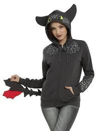 train dragon toothless cosplay girls hoodie topic