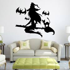 vinyl removable wall decals halloween witch wall stickers for halloween vinyl wall decals horror witch wall stickers
