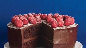 chocolate raspberry layer cake recipe bon appetit