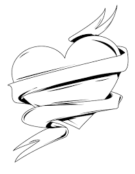 drawings of hearts with ribbons free download clip art free