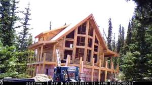two story log homes log home construction time lapse youtube