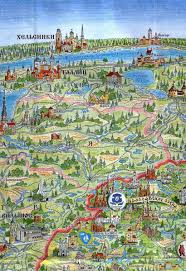 East Europe Map by Tourist Map Of Belarus North West Braslav Lakes Complex