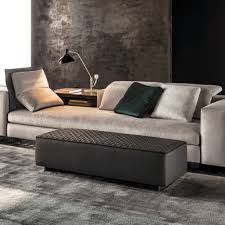 yang chaise designed by rodolfo dordoni for minotti orange skin