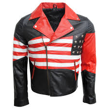 red leather motorcycle jacket usa flag leather jacket usa flag leather jacket suppliers and