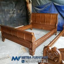 Dipan Kayu Kalimantan ranjang dipan lengkung ukiran kayu jati product 141 agus mebel