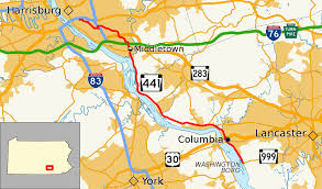 Map Of Lancaster Pa Pennsylvania Route 441 Wikipedia