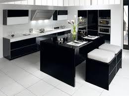 cuisine moderne noir et blanc modele cuisine blanc laqu best best utile cuisine gris laqu