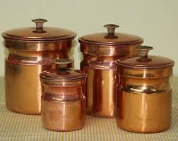 bronze kitchen canisters copper canister etsy