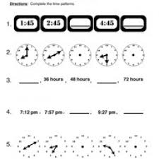 time worksheets reading time on 12 hour analog clocks in 15