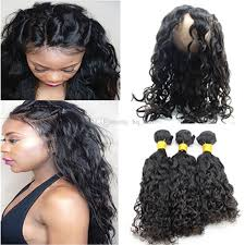 wet and wavy sew in hair care 9a brazilian wet and wavy human hair 22 5x4x2 360 lace frontal