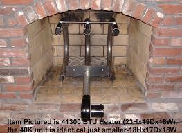 fireplace furnace 40 000 btu wood burning fireplace grate heater