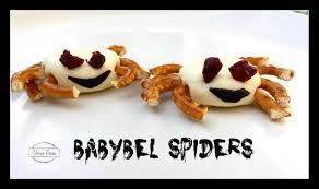 babybel spiders healthy halloween snack ideas chewie chews