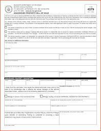 Car Bill Of Sale Example by Bill Of Sale Missouri Sponsorship Letter
