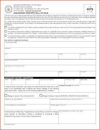 Bill Of Sale Motor Vehicle Template by Bill Of Sale Missouri Sponsorship Letter