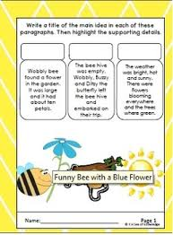 a bee u0027s world finding the main idea activities and worksheets