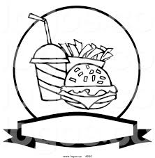 food vector royalty free black and white fast food vector logo by hit toon 990