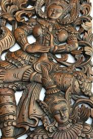 best quality wall decor traditional thai carved teak wood wall