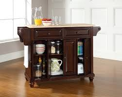 Wood Top Kitchen Island by Amazon Com Crosley Furniture Cambridge Kitchen Island With