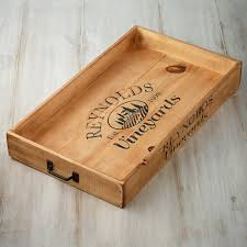 engraved serving tray personalized wine crate serving tray wine enthusiast