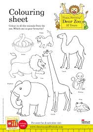 dear zoo u0026 friends dear zoo colouring sheet