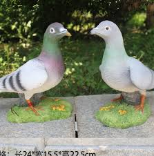 simulation pigeon animal ornaments outdoor garden courtyard park