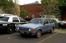 subaru hatchback old parked cars 1985 subaru std hatchback