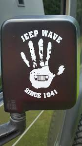 jeep wave sticker mirror jeep wave decal for mirror jeep wave custom color mirror decal