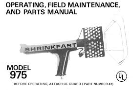 shrinkfast 975 heat gun ul manual