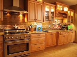 small kitchen with painted faux brick backsplash and wooden large size of kitchen large modern kitchen design with small lighting under oak wooden cabinet