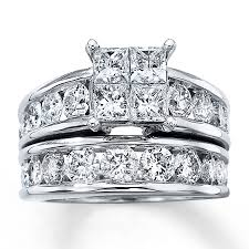 diamond bridal sets diamond bridal set 4 ct tw 14k white gold