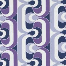 Geometric Drapery Fabric Modern Navy Blue And Purple Geometric Upholstery Fabric