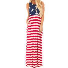 Flag Dress American Flag Beach Dress U2013 Maxi Dress For Less