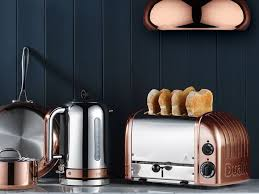Duralit Toaster Copper Spray Finish 2 Slice Toaster Newgen Traditional Compact