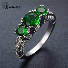 s day birthstone rings aliexpress buy bamos 925 sterling silver filled may
