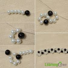 white beaded bracelet images How to make an easy black and white beaded bracelet with wave jpg