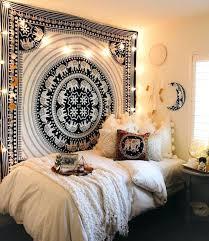 guirlande lumineuse d馗o chambre deco chambre boheme deco boheme teinture murale guirlande lumineuse